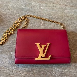 Louis Vuitton - Chain Louise GM in red calf skin